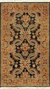 rugsville agra black gold wool 10466 rug