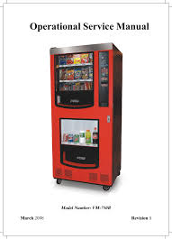 Vending Machine Manual Beauteous Operational Service Manual Manualzz
