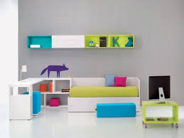 Alluring Kids Room Design With White Wooden Small Desk L Shaped ...
