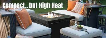 a small fire pit table that has high
