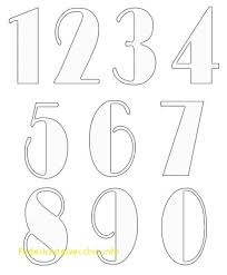 Number Templates 1 10 Awesome Best 25 Free Printable Numbers Ideas