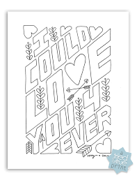Small Picture Love You Forever Free Coloring Page Tried True