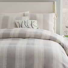coastal stripe duvet cover twin frost gray