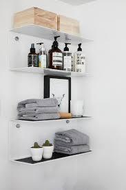 Mesmerizing Shelves In Bathroom 125 White Floating Shelves In