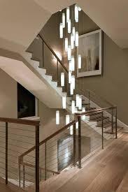 drop ceiling pendant lights led crystal long