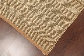 rugsville designer stripe beige handmade jute dhurrie rug 4 x 6