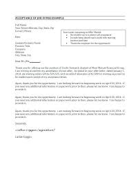Offer Letter Acceptance Mail Format Job Offer Email Template Accepting A Sample Acceptance