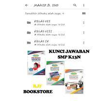 Kunci jawaban buku pkn kurikulum 2013 kelas x 2014 18 june 5 february 1 january 12 popular posts. Jual Kunci Jawaban B Indonesia Smp K13n Kls 1 3 Penerbit Erlangga Jakarta Timur Rjf Bookstore Tokopedia