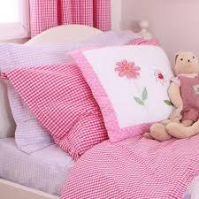 hot pink gingham single duvet cover set childrens bedding