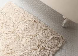 shabby chic bath mat
