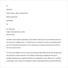 Volunteer Appreciation Letter Sample Fotolip Com Rich Image And