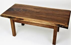 live edge walnut slab table order