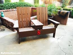 twin adirondack chair plans. Diy Double Adirondack Chair B On Twin Plans Poly Furniture Ch T