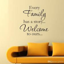 EVERY FAMILY HAS A STORY Wall Stickers Quotes Vinyl Removable Family Fascinating Wall Sticker Quotes
