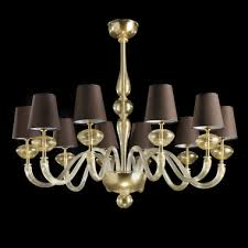 large modern italian handcrafted gold plated chandelier
