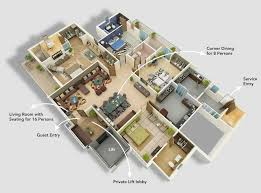 awesome simple house plan with 4 bedrooms 3d two story plans collection images bedroom one kerala style four ideas gallery design image of ide modern type