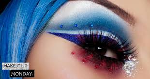 make it up monday dazzling 4th of july make up ideas to try at home