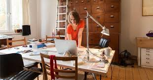 your home office. Woman Working In Home Office | Simon Ritzmann/Getty Images Your C