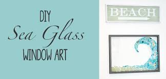 diy sea glass window art