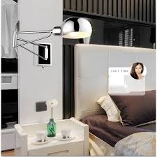 bedroom wall sconces lighting. chrome wall sconce bedside fixtures lighting for bedroom modern swing arm lamp reading lights mirror e14 led arandela-in lamps from sconces m