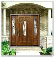 inspiring exterior door with side panels glass panel exterior door brilliant front matching composite side panels