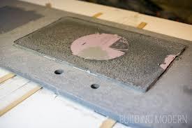 diy concrete countertops sink form