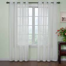 ARM & HAMMER Arm and Hammer 95-in White Polyester Grommet Sheer Single  Curtain Panel