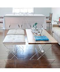furniture charming lucite coffee table for luxury living room