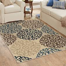 stylish inspiration blue area rugs 5x7 47