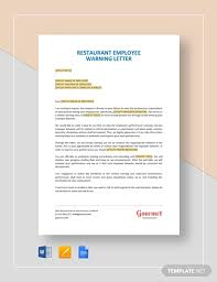 How To Write A Warning Letter To An Employee 22 Warning Letter Examples Templates Pdf Google Docs