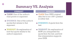 out of class essay ppt 8 summary vs analysis summary analysis