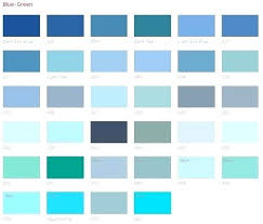 Light Teal Color Chart Custom Creations Blue Green