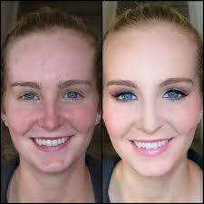 before and after airbrush makeup