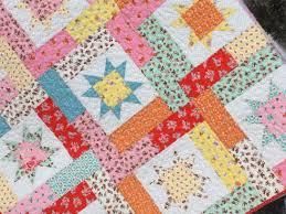 Lucky stars quilt pattern | SewMod & Milk sugar flower baby kits Adamdwight.com