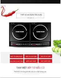 Bếp từ đôi hai ngăn nấu 2000W công suất lớn tiết kiệm điện, bếp nổi/bếp âm  2 cách dùng, bếp từ bếp điện bếp âm