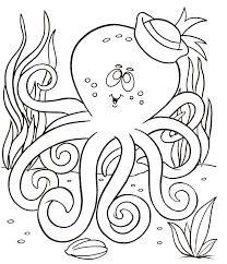 Small Picture Luxury Octopus Coloring Pages 58 In Picture Coloring Page with