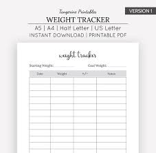 Chart Of Weight Weight Loss Chart Weight Loss Tracker Planner Weight Loss Journal A5 A4 Us Letter Half Letter Weight Loss Planner Fitness Journal