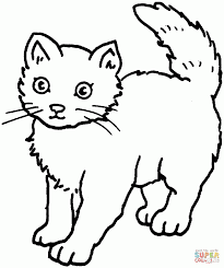 Small Picture Cute Coloring Pages Of Cats Printable Coloring Pages