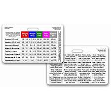 Pediatric Vital Signs Chart 2018 Amazon Com Scrubnotes Medical Reference Id Badge Cards
