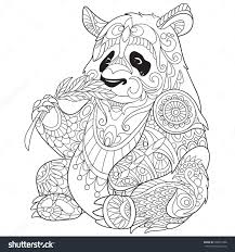 Small Picture Coloring Pages Animals Giant Panda Bear Coloring Page Panda