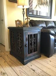 dog crate end table diy inspirational custom dog kennel dog crate end table solid wood