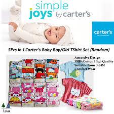 Simple Joys Carters Size Chart Carters 5 In 1 Baby Boy Girl T Shirt Random Design