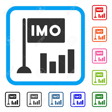 Imo Bar Chart Icon Flat Gray Iconic Symbol Inside A Blue Rounded