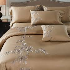 4pcs 100 cotton 60s sateen fabric camel color duvet cover set with bamboo embroidery in bedding sets from home garden on aliexpress com alibaba group