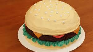 Burger Cake Design How To Make A Hamburger Cake Nerdy Nummies