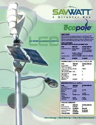 Ecopole™ LED Street Light  60W LED Cobra Head LED Light  180W Solar Street Light Brochure