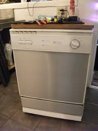 the before my portable dishwasher and tools