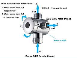 4 way shower diverter valve 3 way shower head valve 2 three way t adapter valve 4 way shower diverter valve