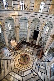 interior del baptisterio pisa vi