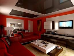 Red Wall Living Room Decorating Living Room Large Red Wall Modern Rooms Nice Tiles That Ca Be